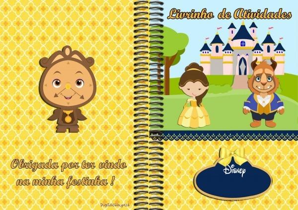 Kit De Personalizados Tema  A Bela E A Fera  Para Imprimir