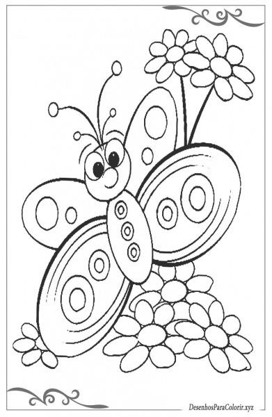 Borboletas Desenhos Para Colorir E Imprimir