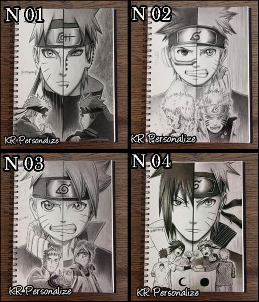 Caderno Do Anime Naruto Imagens Em Desenho 10 Mt No Elo7