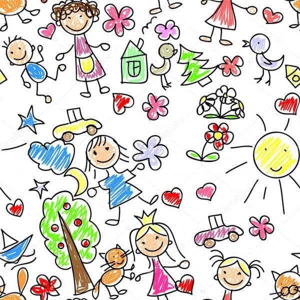 Desenhos Infantis — Vetores De Stock © Virinaflora  13736003