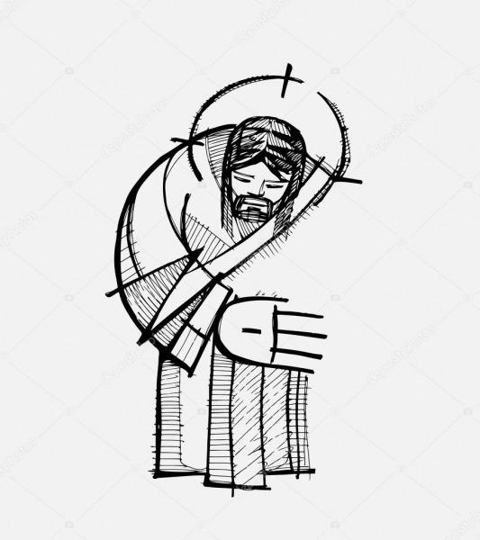 Abraço De Jesus Desenho — Vetores De Stock © Bernardojbp  73732179