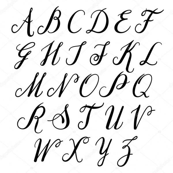 Letras Do Alfabeto Desenhadas De Mão — Vetores De Stock © Sntpzh