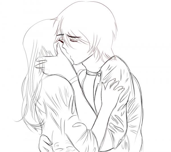 Desenho De Beijo Para Colorir – Pampekids Net