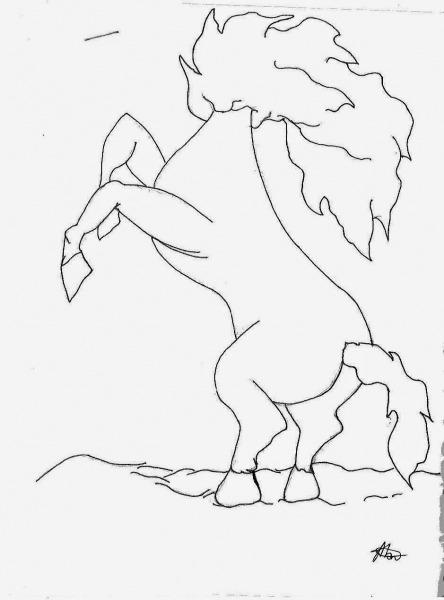 Folclore  Desenhos De Mula Sem Cabeça Para Colorir, Pintar