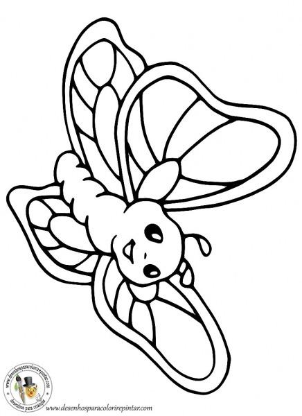 Desenho Para Colorir Borboleta – Pampekids Net
