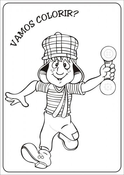 Desenhos Do Chaves Para Colorir E Imprimir – Pampekids Net