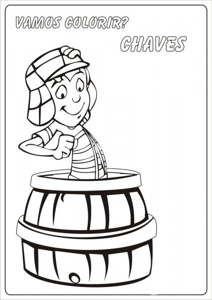 Desenhos Da Turma Do Chaves Para Colorir – Pampekids Net
