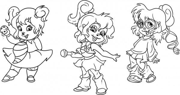 Desenhos Para Colorir Alvin E Os Esquilos – Pampekids Net