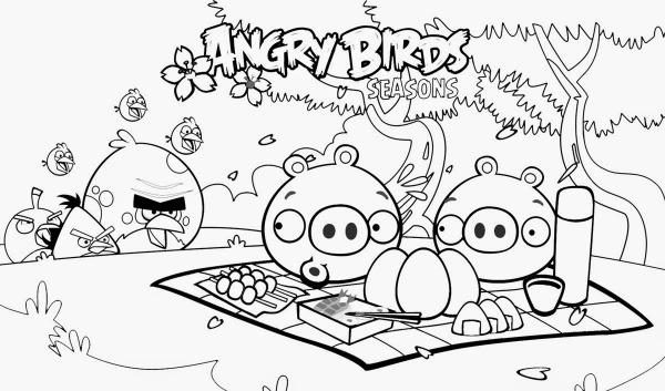 Angry Birds Desenhos Para Colorir – Pampekids Net