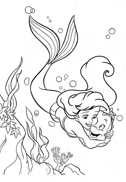 Desenhos Para Colorir Ariel – Pampekids Net