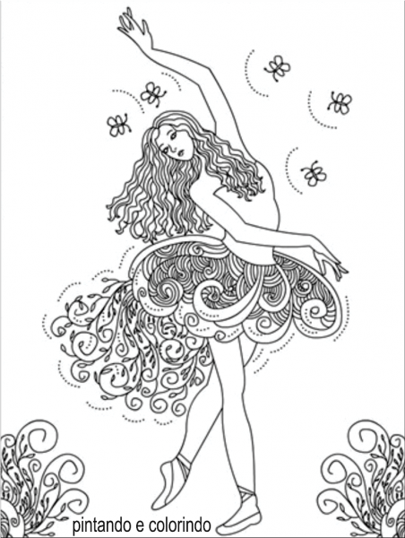 Desenho Para Colorir Bailarina – Pampekids Net