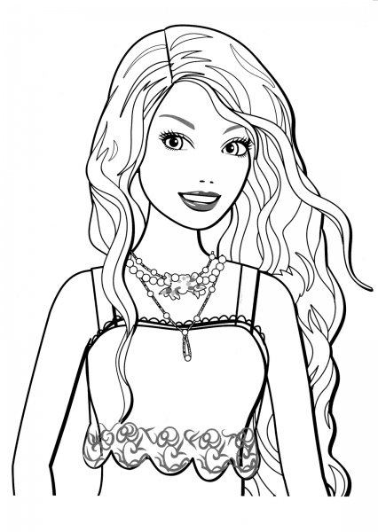 Desenhos Para Colorir Da Barbie – Pampekids Net