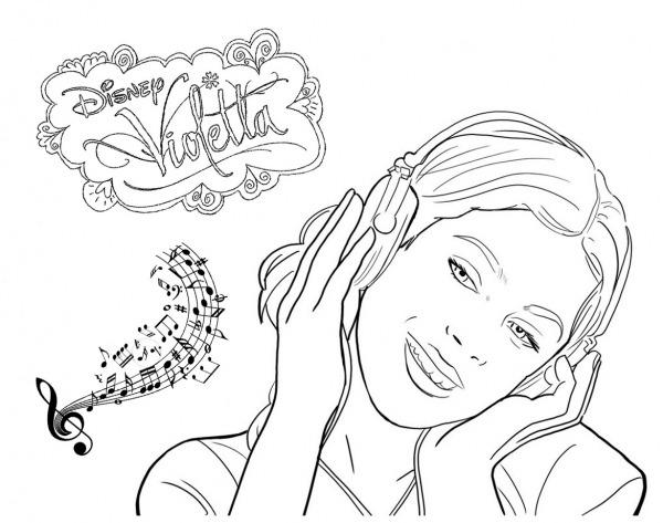 Desenhos Para Colorir Da Violetta – Pampekids Net