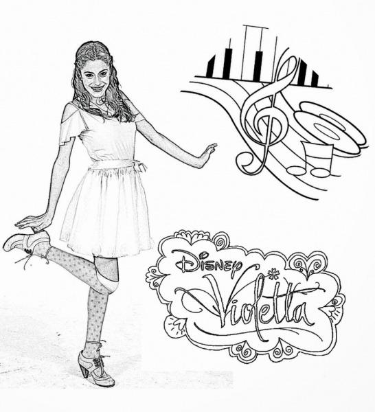 Violetta Para Colorir – Pampekids Net