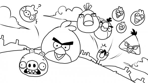 Desenhos Para Colorir De Angry Birds – Pampekids Net