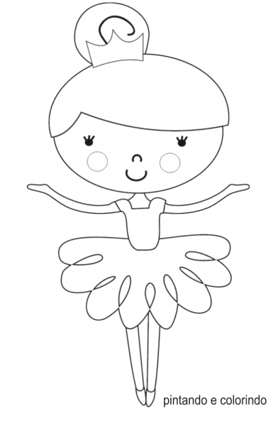 Desenhos Para Colorir Da Bailarina – Pampekids Net