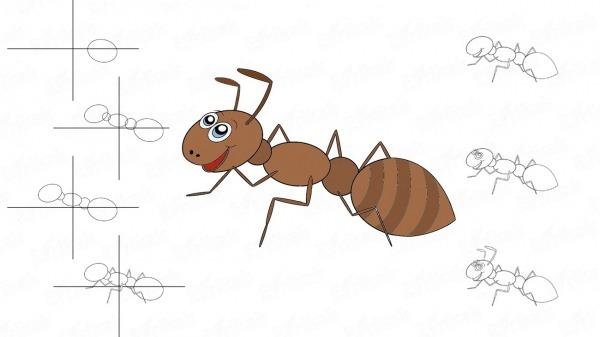 Como Desenhar Uma Formiga De Desenho Animado Com Um Simples Lápis