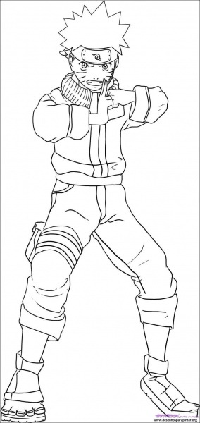 How To Draw Naruto Shippuden Sketch Coloring Page – Pampekids Net