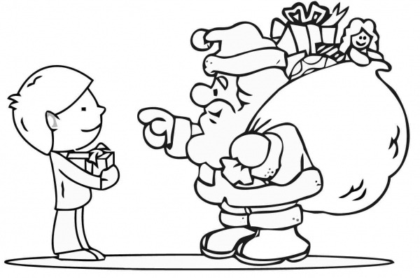 Papai Noel Para Colorir E Pintar – Pampekids Net