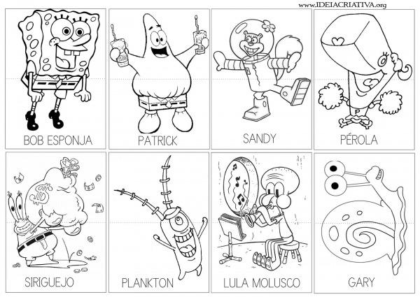 Desenho Para Imprimir Do Bob Esponja – Pampekids Net