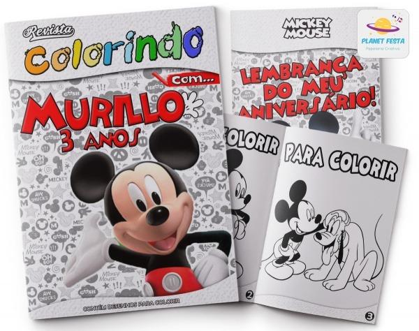 Kit Colorir Revistinha + Giz
