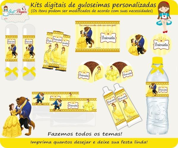 Kit Guloseimas Digital A Bela E A Fera No Elo7