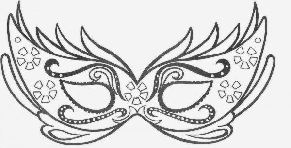 Desenhos E Riscos De Máscaras De Carnaval Para Você Imprimir