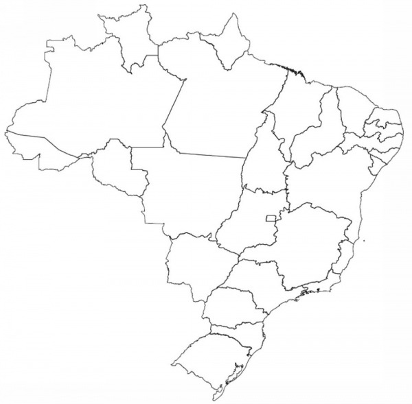 Desenho Do Mapa Do Brasil Para Colorir – Pampekids Net