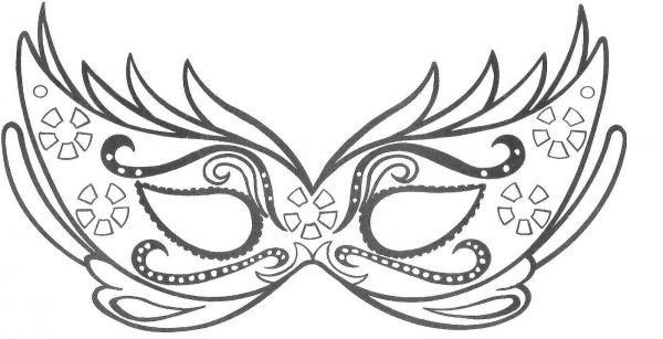 Desenhos Para Colorir Mascaras De Carnaval