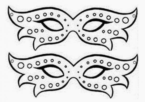 Desenhos Para Pintar  Mascaras De Carnaval Para Colorir