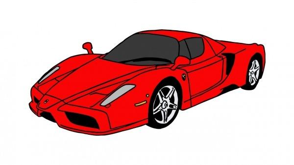Como Desenhar Uma Ferrari Enzo (carro)