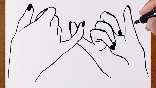 Como Desenhar Mãos Best Friends