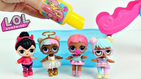 Brinquedos Lol Surprise Tintas Coloridas Abrindo Bonecas Lol