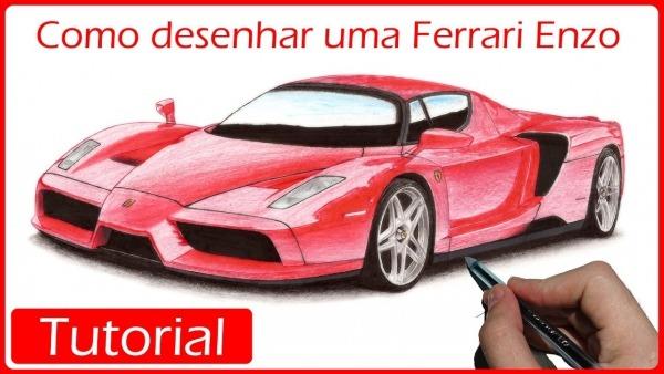 Como Desenhar Carros  Ferrari Enzo