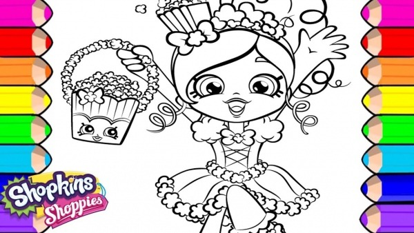 Colorindo Desenho Da Boneca Shopkins Para Colorir Shoppies