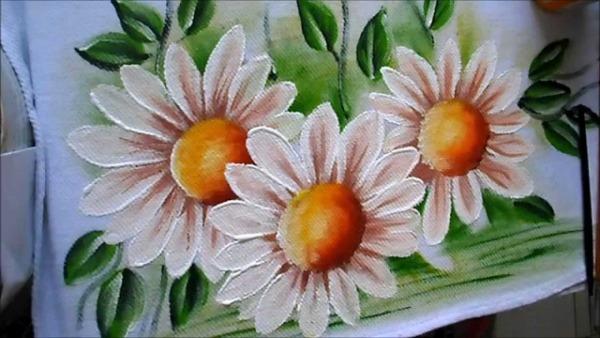 Como Pintar Margaridas Em Tecido