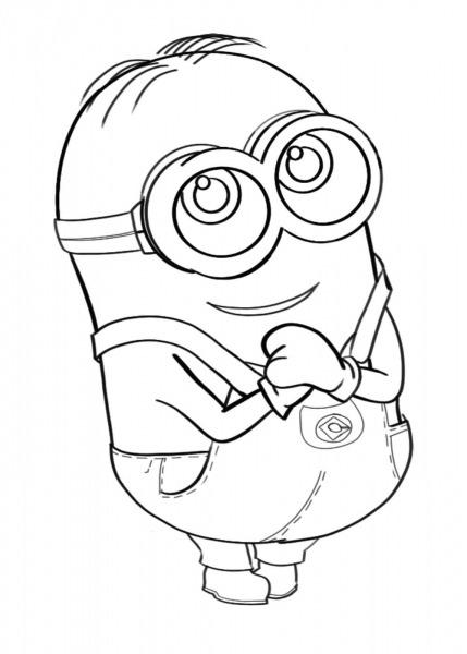 Desenho De Minion Donnie Para Colorir