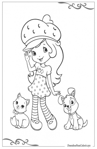 Moranguinho Desenhos Para Imprimir Grátis