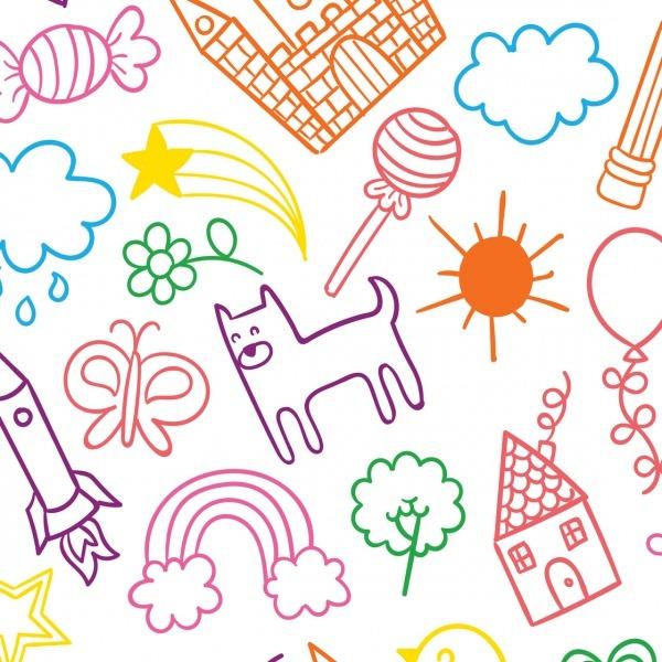 Papel De Parede Autocolante Infantil Desenhos Coloridos No Elo7