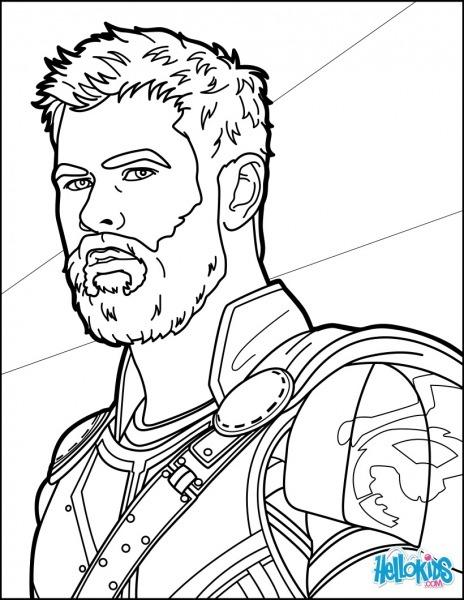 Desenhos Para Colorir De Thor Ragnarok