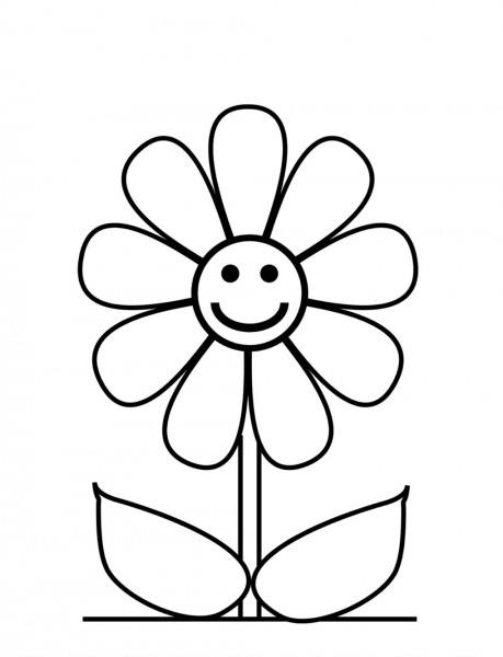 Flor Margarida Para Colorir – Pampekids Net