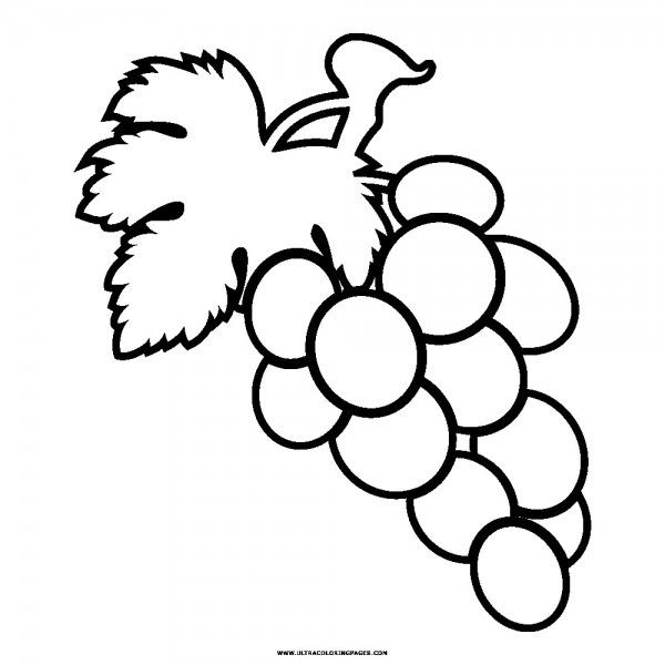 Desenhos Para Colorir Colorindo Frutas Uva Banana E Morango Inside