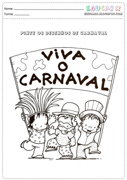 Desenhos De Carnaval Para Pintar