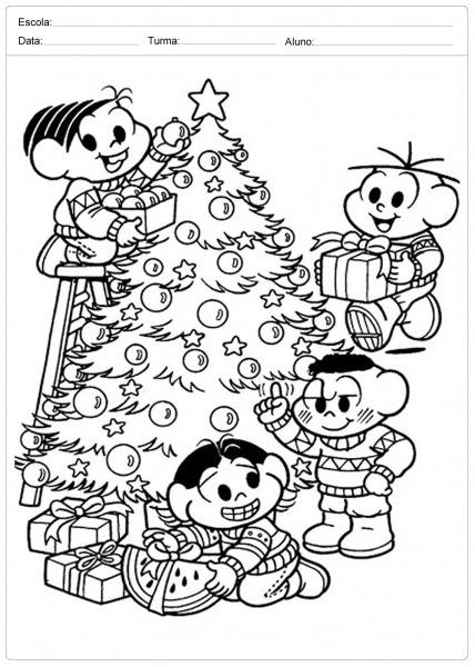 Desenhos Para Imprimir E Colorir Sobre O Natal — SÓ Escola