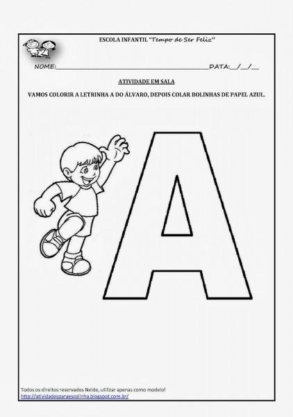 Atividades Para Escolinha   Atividade Letra A Para Colorir