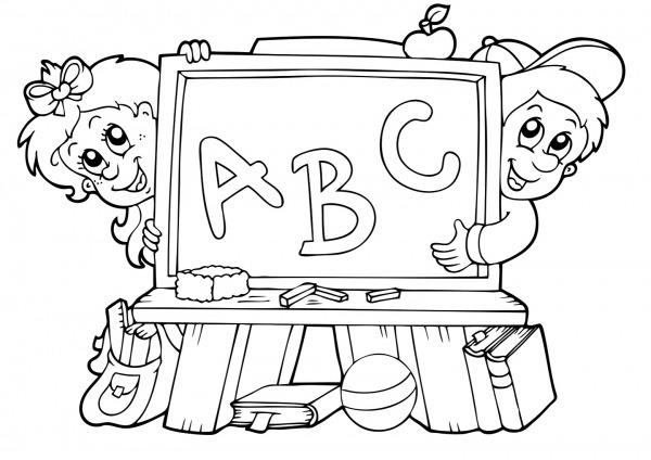 Crian A Escrevendo Para Colorir – Pampekids Net