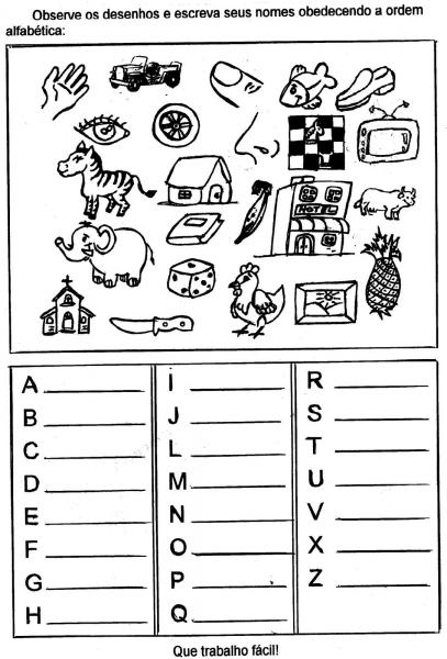 Atividades De Alfabetização Para Imprimir Para Aprender A Ler E