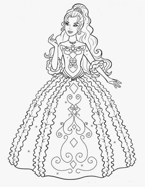 Desenho Da Barbie Para Imprimir – Pampekids Net