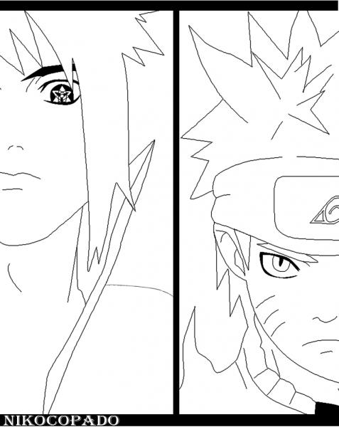 Desenhos Para Colorir Do Naruto Vs Sasuke