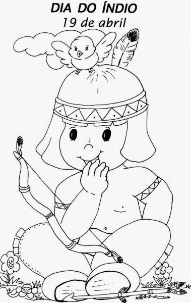 Desenhos De Índio Para Colorir
